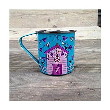 Casetas de playa Camping tazas, tazas de niños, al aire libre tazas, tazas de café (Juego de 2): Amazon.es: Hogar