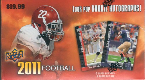2011 Upper Deck Football Unopened Blaster Box That Contains 9 Packs. Possible Cam Newton Rookie and More!