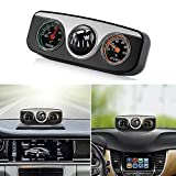 fanmaosdf Car Styling 3 in 1 Guide Ball Compass Thermometer Hygrometer Car Ornaments Interior Accessories for Auto Boat Vehicles Black: more info