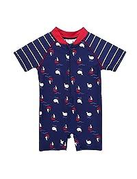Vivafun Baby Boy Swimwear Sun Protective Infant Toddler Sunsuit