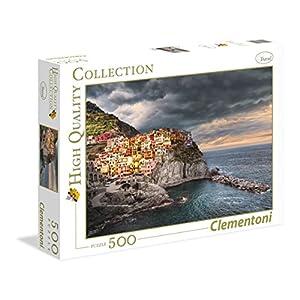 Clementoni 35021 Puzzle Manarola 500 Pezzi Multicolore