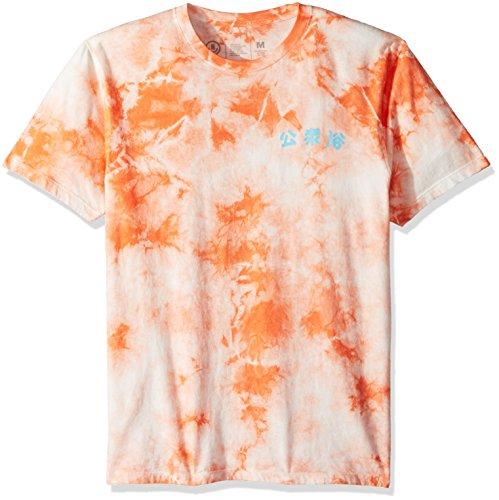 NEFF Men's Steam Bath Wash Short Sleeve Tee Shirt, Peach, (Wholesale Designer T-shirts)