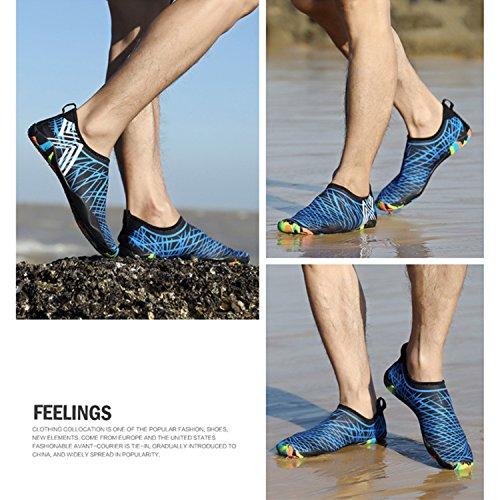 Men Women Barefoot Water Shoes Skin Shoes Quick Drying Aqua Shoe for Beach Swimming Diving Surfing Yoga Blue MNrN02oNU