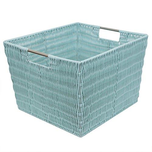 Home Basics Basket, Turquoise (Turquoise Basket)