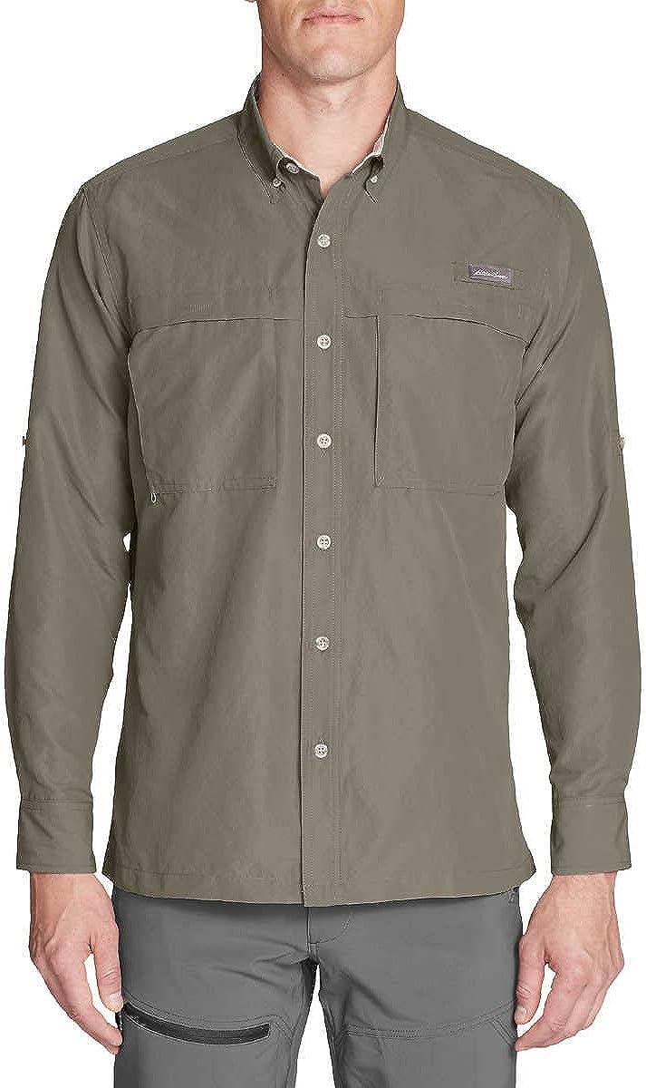 Eddie Bauer Men's Long Sleeve Guide Lightweight Shirt UPF 30 Sun Protection Shirt