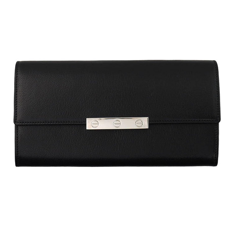 (カルティエ) Cartier LOVE 長財布 L3001375 ブラック 小銭入れ有り ビスモチーフ レザー レディース 黒 ラブコレクション 女性用 カルチェ B01I67LOA8