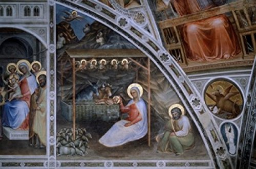 Jesuss Birth from Stories of Christ Giusto di Giovanni de Menabuoi (d ca1393 Italian) Baptistery of the Cathedral Padua Poster Print (24 x 36) (Jesuss Birth)