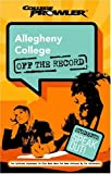 Allegheny College College Prowler off the Record, Carolyn Keller and Jim Seaman, 1596580003