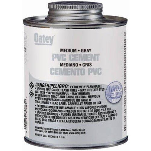 Oatey 30885 PVC Medium Cement, Gray, 16-Ounce by Oatey ()