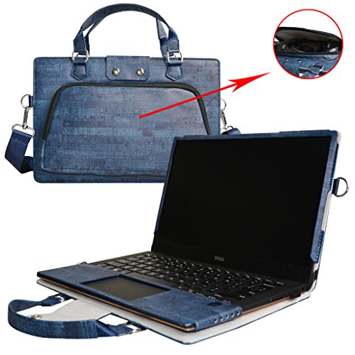 XPS 13 Case,2 in 1 Accurately Designed Protective PU Leather Cover + Portable Carrying Bag For 13.3