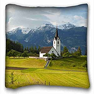 Soft Pillow Case Cover Nature Custom Cotton & Polyester Soft Rectangle Pillow Case Cover 16x16 inches (One Side) suitable for King-bed