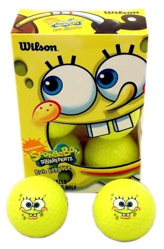 New Wood Golf Tees (6 New Wilson Golf SpongeBob Squarepants Yellow Golf Balls Gift Box)
