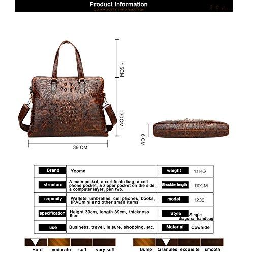 Borse a tracolla delle borse a tracolla delle borse degli uomini di affari degli uomini dellannata del cuoio genuino del coccodrillo