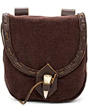 Mythrojan Medieval Leather Pouch Accessory Renaissance Bag