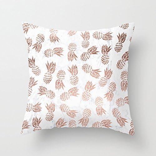 Gold Marble Pineapple Polyester Pillows Case Throw Sofa Cushion Cover Home Decor Home Décor Pillows Indian South Asian Home Décor Pillows