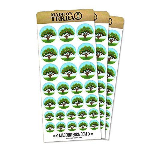 Flourishing Apple Tree Removable Matte Sticker Sheets (Tree Stickers)