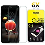 #7: [6 Pack] LG Tribute Dynasty Screen Protector, KHAOS Tempered Glass Screen Protector Ultra Clear Scratch Resistant for LG Tribute Dynasty (SP200)