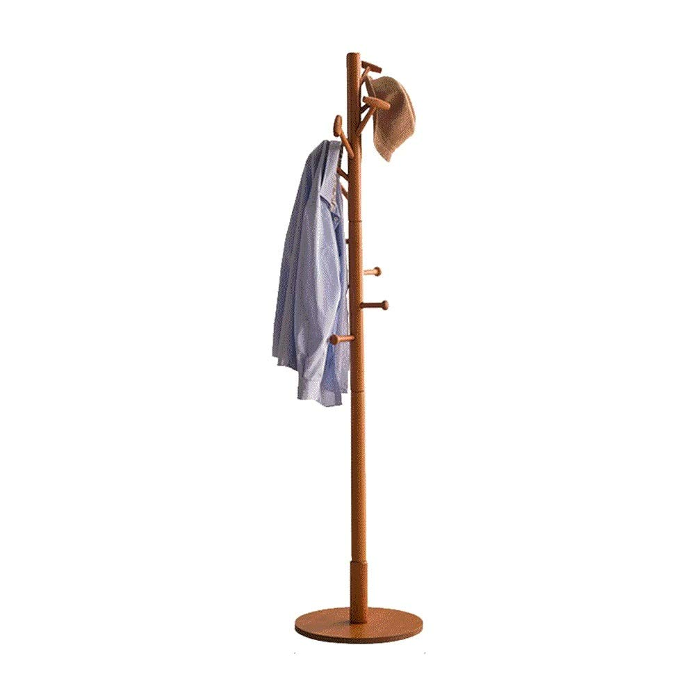 Ltong Solid Wood Hanger Dustproof Floor Simple Bedroom Hanger Room Storage Household Modern Coat Rack