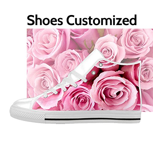 Custom Women's Shoes High Top Action Leather Dseign Your Own Add Image Print US6