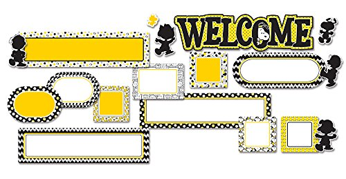 Eureka's Peanuts Back to School Welcome Bulletin Board and Classroom Decorations, 6.5'' x 0.1'' x 26'', 18 pc
