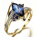 Womens Blue Sapphire Gold Filled Engagement Wedding Rings Jewelry Size 6-9 LOVE STORY (8)