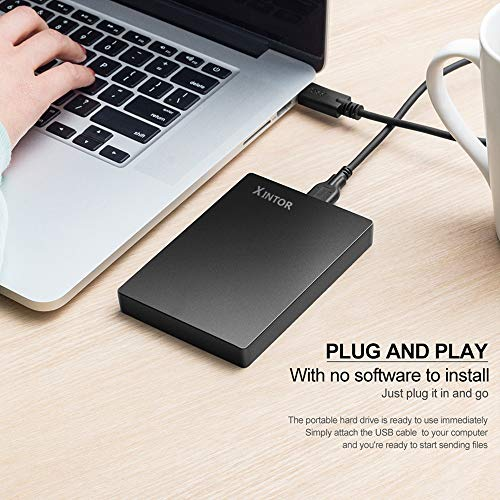XINTOR Portable External Hard Drive USB3.0 SATA HDD Storage for PC, Mac, Desktop, Laptop, MacBook, Chromebook, Xbox One, Xbox 360, PS4, PS4 Pro, PS4 Slim by XINTOR (Image #4)