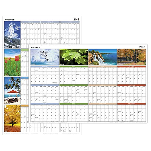 At A Glance Yearly Wall Calendar 36 Quot X 24 Quot Horizontal