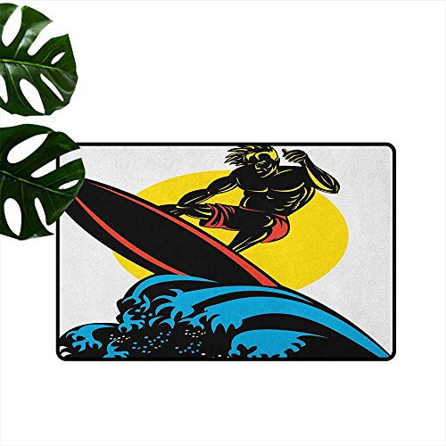 Kas Oriental Multi Waves - RenteriaDecor Ride The Wave,Outdoor mats Dude Surfing The Big Waves in Ocean Exotic Sports Sea Beach Hobby Graphic Art 24