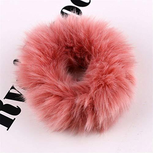 Velvet Elastic Hair Rope Scrunchie Ponytail Holder Rubber Band Hair Accessory #B (Model - NEW05)