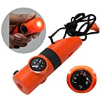 whistle combo - COMPASS-WHISTLE-FLASHLIGHT 6-IN-1 COMBO IN ORANGE