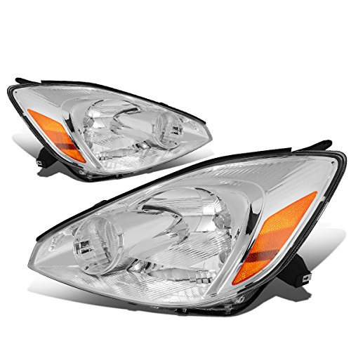 (For Sienna XL20 2nd Gen Pair of Chrome Housing Amber Corner Headlight Lamp)