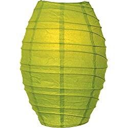 Luna Bazaar Cocoon Premium Paper Lantern Lamp Shade (10-Inch, Chartreuse Green) - For Home Decor, Parties, and Weddings