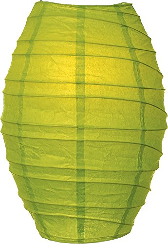 Luna Bazaar Cocoon Premium Paper Lantern Lamp Shade (10-Inch, Chartreuse Green) - For Home Decor, Parties, and (Paper Lantern Shades)
