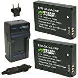 Wasabi Power Battery (2-Pack) and Charger for Drift GBAT and Drift HD Ghost, Ghost-S