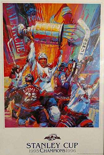 Colorado Avalanche 1995/1996 Stanley Cup Champions Poster