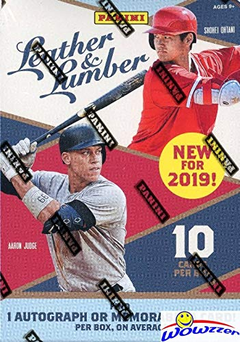 2019 Panini Leather & Lumber Baseball EXCLUSIVE Factory Sealed Retail Box with AUTOGRAPH or MEMORABILIA! Look for RC & Autos of Vladimir Guerrero Jr, Eloy Jimenez Fernando Tatis Jr & ()