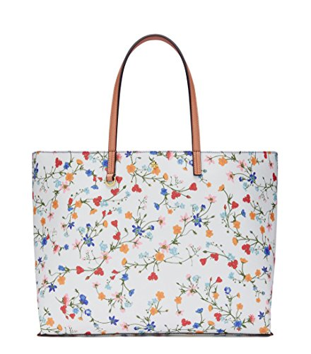 Tory Burch Kerrington Square Large New Ivory Delphi Flower - Old Burch Tory Collection