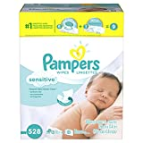Pampers Baby Wipes Sensitive 9X Combo Pack, 528 Count