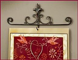 Fleur De Lis Antiqued Metal Wall Calendar Hook