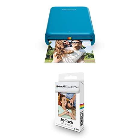 Polaroid Zip - Impresora móvil, Azul + Paquete de 50 Hojas ...