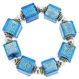 GlassOfVenice Brillio Venetian Cubes Bracelet - Aqua Blue