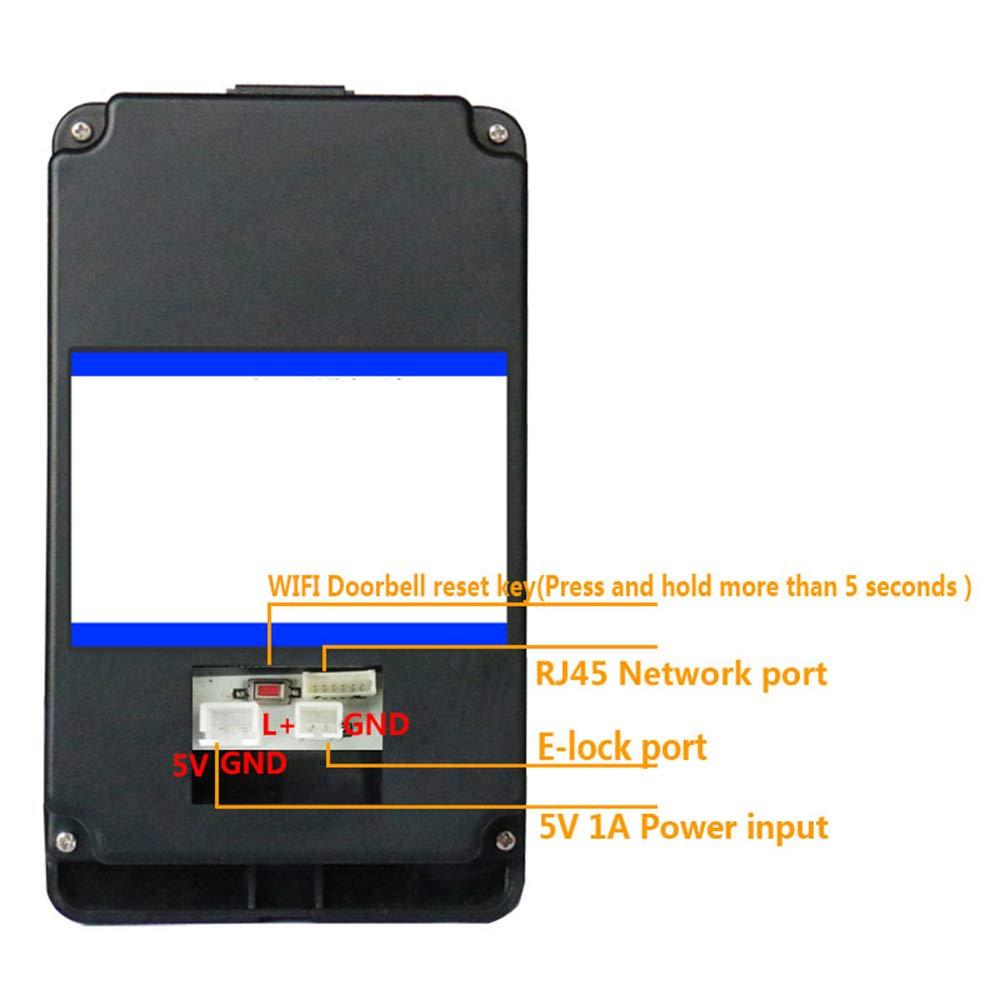 NOMEN Timbre De La Puerta De Vídeo, La Aplicación Móvil De Control Remoto 720P HD Video/De Dos Vías De Conversación/Detección De Movimiento/WiFi: Amazon.es: ...