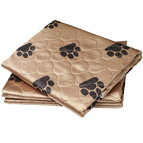 Washable Pee Pads For Dogs by PamperAPet - Reusable Pet and Puppy Training Mat - Waterproof Indoor Dog Potty Works As Whelping Crate Or Bed Pad - Helps Pets With -