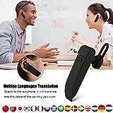 Smart Language Translator Device, Electronic Translator Portable Bluetooth Multi-Language Translation, 16 Languages Wireless Translator Headset for Learning Traveling Shopping Business Meeting