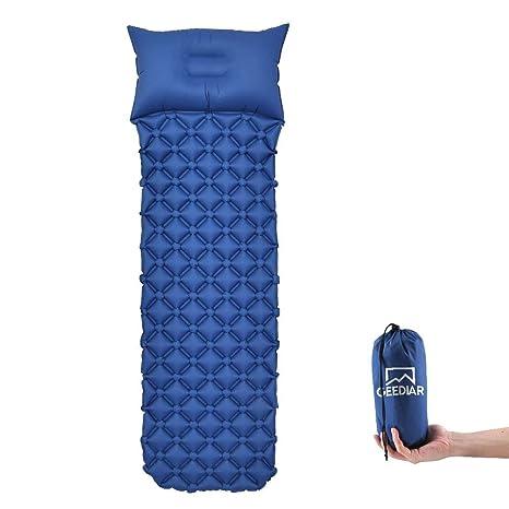 GEEDIAR Esterilla Inflable Acampada, 190x56x6cm (0.5 kg) Ultraligera Cámping Colchones de Aire con