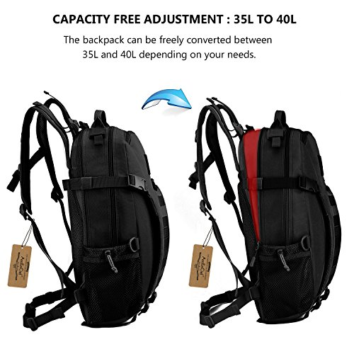 4efe6f38130 ArcEnCiel Men Tactical Military Molle Gym Bag Badminton Backpack with Patch  -Rain Cover Included