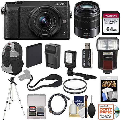 Panasonic Lumix DMC-GX85 4K Wi-Fi Digital Camera & 12-32mm & 45-150mm Lens...