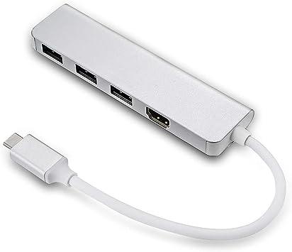 USB 3.1 Type C HDMI HDTV Dual USB HUB OTG USB-C Charger Adapter for Laptop