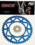 FLO MOTORSPORTS CHAIN AND SPROCKET COMBO KIT YAMAHA YZ125 / YZ250F 13T FRONT / 47 - 53 TOOTH REAR SPROCKET (48T, BLUE)