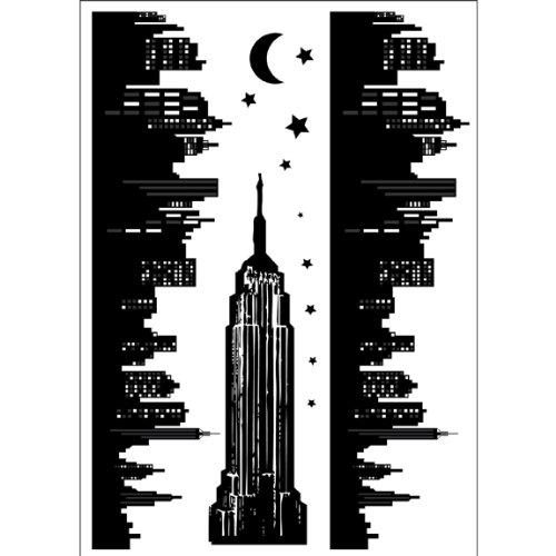 New york skyline grand autocollant mural 30 cm b002o0tmia for Autocollant mural new york